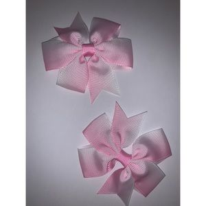 Light Pink Faded Hair Bows 💗
